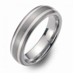 Hochzeitsringe Eheringe Titan mit Silber FT-26-01