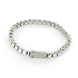 Armband Veneziamuster Edelstahl mit Magnetverschluss A63