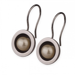 Edelstahl Ohrhänger mit Süsswasserperlen  E219
