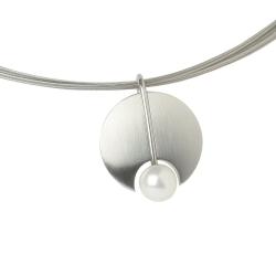 Ernstes Design Anhänger mit Perle klein AN218