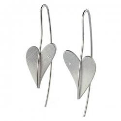 Ohrhänger Herz mit Brillant Ernstes Design E261