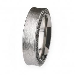Ernstes Design Ring mit Zirkonia schwarz R245BL