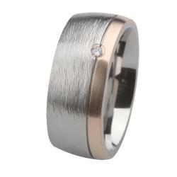 Ernstes Design Ring mit Gelbgold und Brillant R238.9