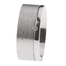 Ernstes Design Ring grob mattiert poliert Brillant R222.9