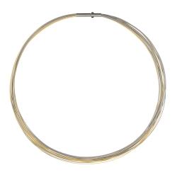 Halsreifen bicolor gelb 20 Fach DS20Cbi von Ernstes Design