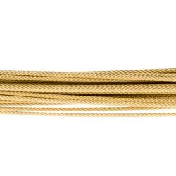 Halsreif Drahtseile 35 Fach DS35GG Gelbgold vergoldet