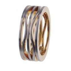 Ring Edelstahl Ernstes Design R119,5 Ringgröße 48