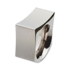 eckiger breiter Edelstahlring  R184 Ringgröße 55