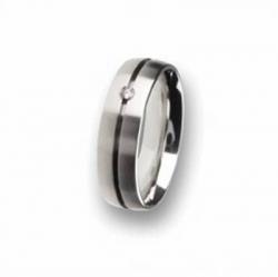 Edelstahl Ring mit Brillant R67.6