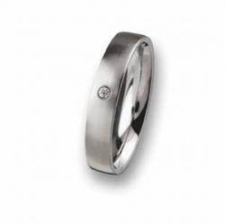 Edelstahl Ring mit Brillant R65,4