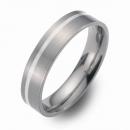 Trauringe Hochzeitsringe Titan mit Silber FT-07-04