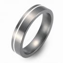 Trauringe Hochzeitsringe Titan mit Silber FT-03- 04
