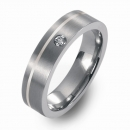 Trauringe Hochzeitsringe Titan mit Silber und Brillant FT-04-04
