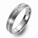 Trauringe Hochzeitsringe Titan mit Silber und Brillanten FT-32-08