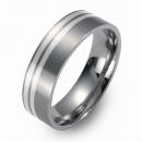 Hochzeitsringe Eheringe Titan mit Silber FT-10-05