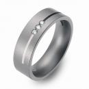 Hochzeitsring Ehering Titan mit Silber und Brillanten FT-38-05