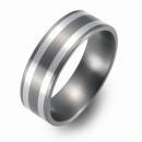 Hochzeitsring Ehering Titan mit Silber FT-12-04