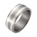 Hochzeitsring Ehering Titan mit Silber FT-28-03