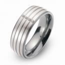 Hochzeitsring Ehering Titan mit Silber und Brillanten FT-29-06