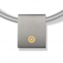 Titananhänger mit Gold und Brillant SH-1001
