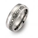 Titan Ringe mit Aussengravur und Brillant FT4506