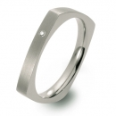 Titanring eckiges Design mit Brillant FT 4702