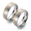 Partner Titan Ringe mit Gelbgold 5801-5802