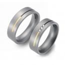 Partner Titan Ringe mit Gelbgoldstreifen 0601-0602