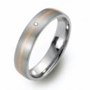 Titan Ring Rotgold und Brillant 5401