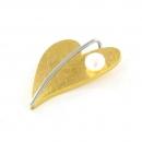 Anhänger Herz Gelbgold vergoldet mit Perle klein AN209