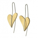 Ohrhänger mit Brillant Gelbgold teilvergoldet Herz E262