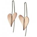 Ohrhänger mit Brillant Rotgold teilvergoldet Herz E263