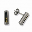 Titanohrstecker mit Goldkugeln  TSO-0602