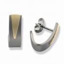 Titanohrstecker mit Gold TSO-0605