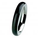 EDvita Edelstahlring mit Keramik schwarz R273