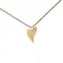 Ernstes Design Herz mit Brillant  Gelbgold vergoldet AN280