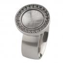 Ernstes Design Ring mit Zirkonia schwarz R214BL