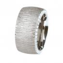 Ernstes Design Ring mit Zirkonia weiß R242WH