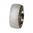 Ernstes Design Ring mit Zirkonia schwarz R243BL