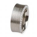 Ernstes Design Ring mit Zirkonia weiß R244WH