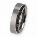 Ernstes Design Ring mit Zirkonia schwarz R278BL