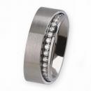 Ernstes Design Ring mit Zirkonia weiß R279WH
