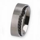 Ernstes Design Ring mit Zirkonia schwarz R279BL