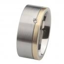 Ernstes Design Ring mit Gelbgold und Brillant R218.9