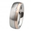 Ernstes Design Ring mit Gelbgold und Brillant R232.7