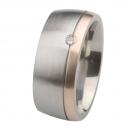 Ernstes Design Ring mit Gelbgold und Brillant R232.9