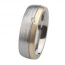 Ernstes Design Ring mit Gelbgold und Brillant R236.7