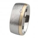 Ernstes Design Ring mit Gelbgold und Brillant R236.9