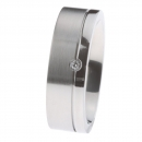 Ernstes Design Ring fein mattiert poliert Brillant R216.7