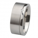 Ernstes Design Ring fein mattiert poliert Brillant R216.9